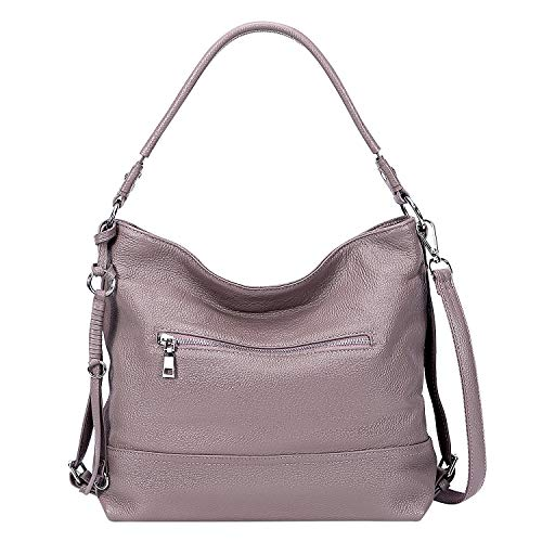 MATERIAL: Top grade cowhide leather (genuine leather). Durable polyester lining. Top-quality silver metal tone hardware. DIMENSIONS: (L) 13 x (W) 5 x (H) 11 inch. Handle drop: 10 inch. Net weight: 1.76 lbs /0.8 kg. PRACTICAL STRUCTURE: Inner structur...