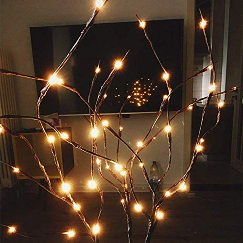 LED-Astlichter, batteriebetrieben, dekorative Lichter, Weidenzweig, beleuchteter Zweig für Heimdekoration