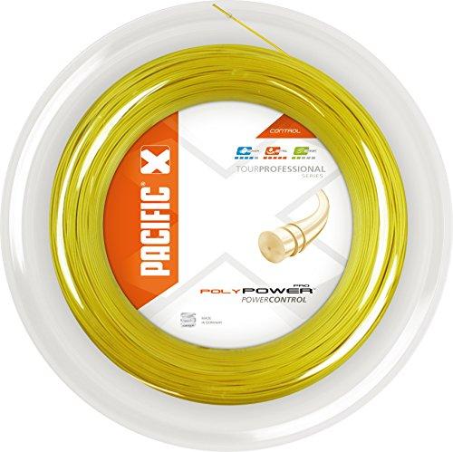 pacific Tennissaite Poly Power PRO - 200m-Rolle, gelb, 1.25mm/16L, PC-2057.74.40