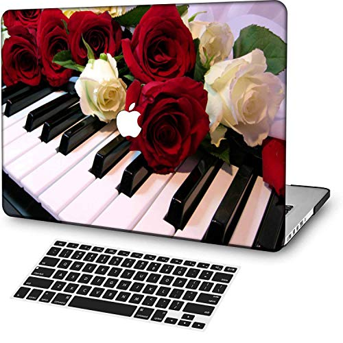 MingCaiFS Laptop Case for MacBook Pro 13' Retina (2020,with Touch Bar),Plastic Pattern Ultra Slim Light Hard Case Keyboard Cover (Model:A2289/A2251),Flower 99