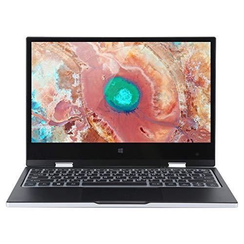 Laptop Tech de 11.6in, 1920 × 1080 EZbook 6GB ROM 128GB Voltaje Notebook, con Pantalla IPS multitáctil, Gran cantidad de Puertos, CPU Potente, Suministros de computadora 100‑240V((Enchufe de la UE))