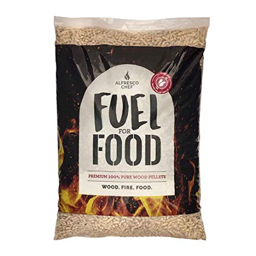 ALFRESCO CHEF Pure Wood Pellets for Outdoor Wood Fired Pizza Ovens & Pellet Grills – Easy to Light – 10kg - Oak