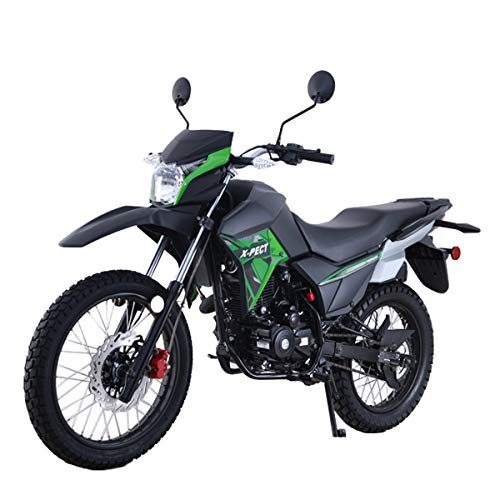X-PRO 200cc Motorcycle Bike Adult Dirt Bike 200cc Street Bike Dirt Bikes,Green