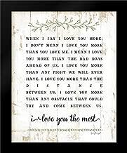I Love You More Framed Art Print by Pugh, Jennifer