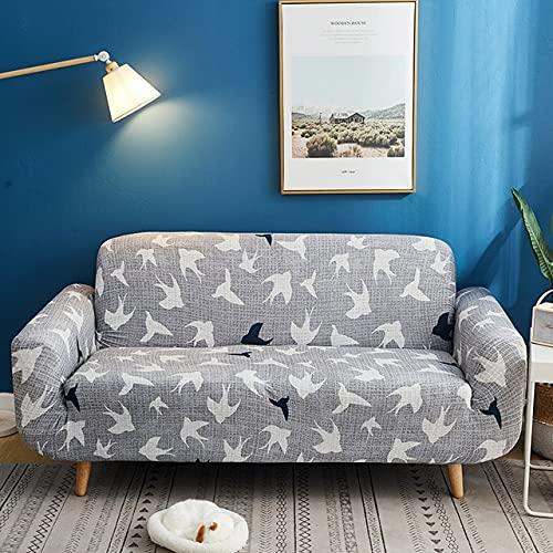 MKQB Moderner Stretch-Stretch-Sofabezug, kompakter All-Inclusive-Sofabezug, L-förmige Eckgarnitur und Rutschfester Sofabezug NO.10 M (145-185cm)