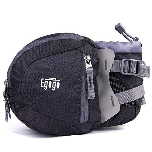 EGOGO Travel Sport Waist Pack Fanny Pack Bum Bag Hiking Bag with Water Bottle Holder S2209 (Black)