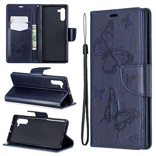 nincyee Billetera Funda para Samsung Galaxy Note 10, Vintage Mariposa Patrón Premium...