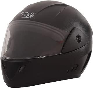 Sepia Premium Rider Full Face Helmet (Matt Black, M)