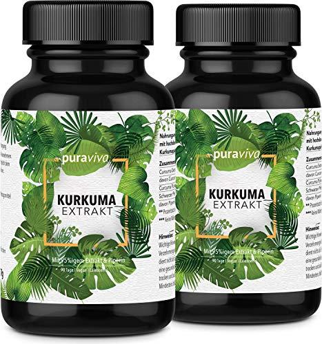 2er-Sparset Kurkuma Extrakt hochdosiert - 180 Kapseln (6 Monate) höchste Dosierung & beste Qualität laborgeprüft aus Deutschland