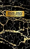 2020-2022 Pocket Planner: Adorable 3 Year Inspirational Monthly Organizer with Phone Book, Password Log & Notes | Lovely Business Calendar & ... Agenda | Trendy Black & Gold Marbled Pattern