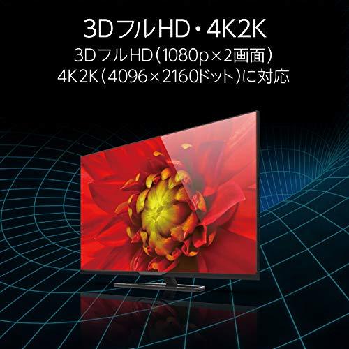 『エレコム HDMI ケーブル 1.5m 4K×2K対応 スーパースリム ブラック DH-HD14SS15BK』の4枚目の画像