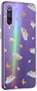 Suhctup Funda Compatible para Xiaomi Mi A3Carcasa Transparente Dibujos Animal Suave Silicona TPU Gel Bumper Ultra Pulgada Antigolpes Crystal Clear Protector Piel Case CoverPereza 7