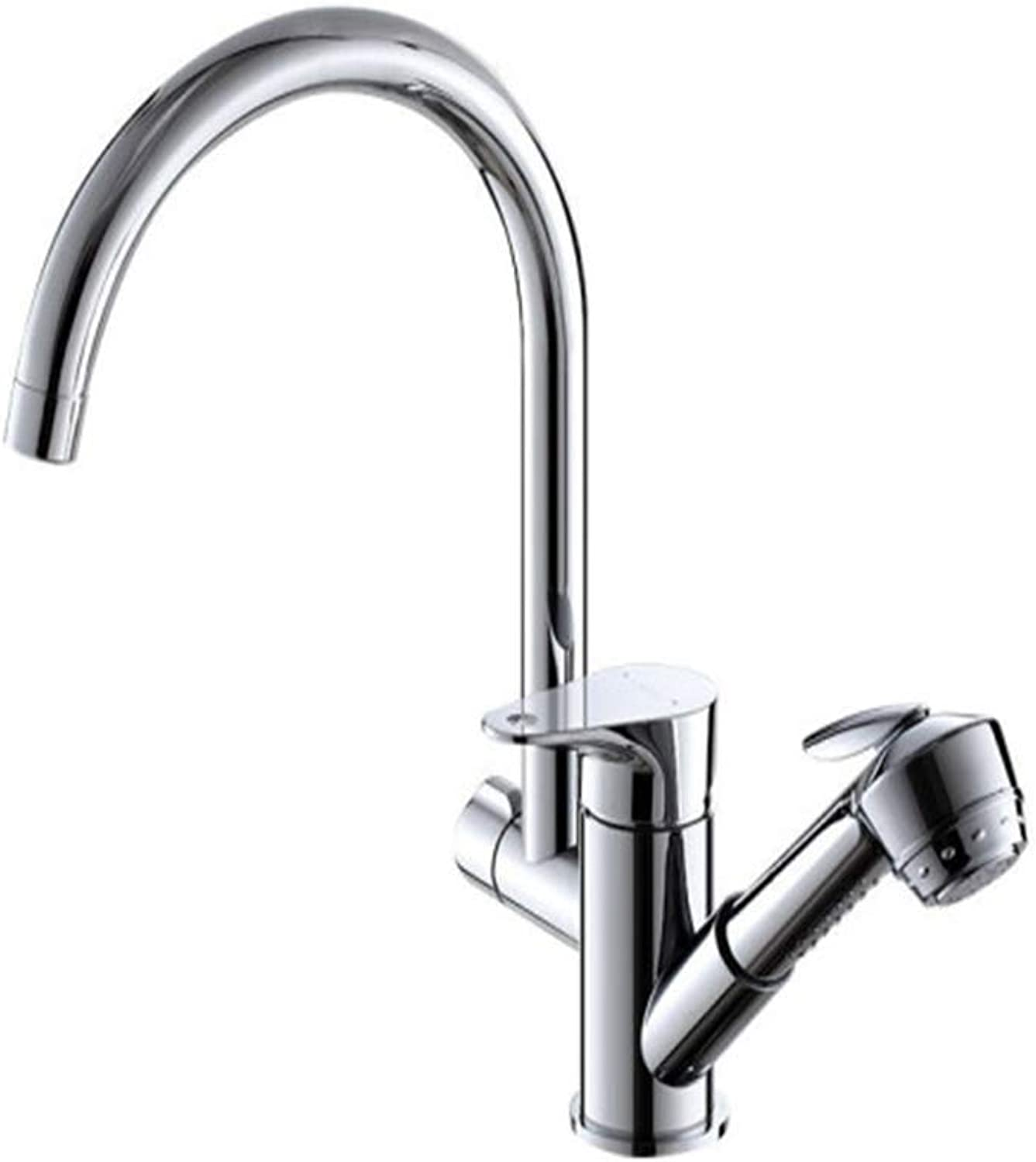 Kitchen Taps Faucet Modern Kitchen Sink Taps Stainless Steelkitchen Faucet Cold and Hot Pumping Sink Faucet All-Copper Dishwashbasin Multi-Functional Faucet