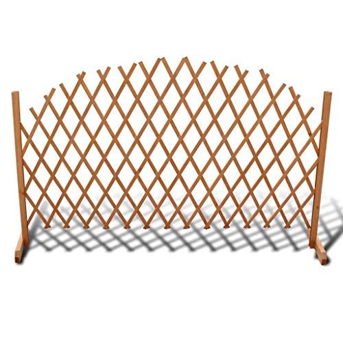 Ausziehbarer Spalierzaun aus Holz Zaunelement Rankgitter Rankhilfe Faltdesign für den Außenbereich geeignet 180 x 100 cm