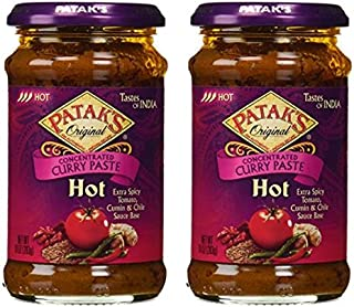Pataks Curry Paste Hot 10oz (Pack of 2)