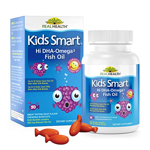 Real Health Bioglan Kids Smart Omega 3 Fish Oil, 30 Chewable Burstlets