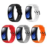 YPSNH Cinturino Gear Fit 2 PRO/Fit 2 Cinturino di Ricambio in Silicone Braccialetto Sportivo per Samsung Gear Fit2 PRO SM-R365/Gear Fit2 SM-R360 Smartwatch