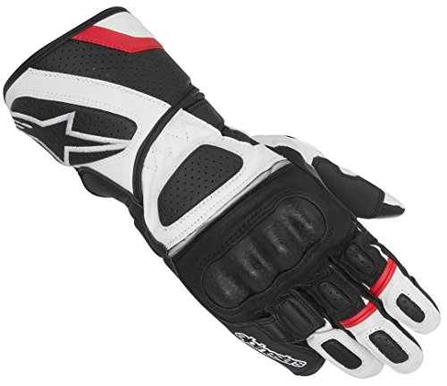 Alpinestars SP Z Drystar Handschuh schwarz/weiß/rot XL - Motorradhandschuhe
