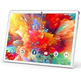 Tablet 10.1 Inch, Android 10 Tablet PC with 32GB ROM/128GB Expand, Dual Sim Card 2MP+ 5MP Camera, WiFi, Bluetooth, GPS, Quad Core, IPS HD Display, Google Certified Tablet【2020 Newest Silver】