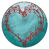 Alfombras de alambre de púas 3D, 10 cm redondas, diseño en forma de corazón con respaldo antideslizante para dormitorio, sala de estar, habitación infantil, decoración interior del hogar