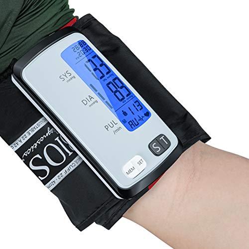 Blood Pressure Monitor- Tubeless Automatic Upper Arm Blood Pressure Machine Digital BP Cuff Kit with 8.7-16.5 inch Large Cuff 2 User 180 Set Memory - LCD Backlight Screen- Nylon Storage Bag