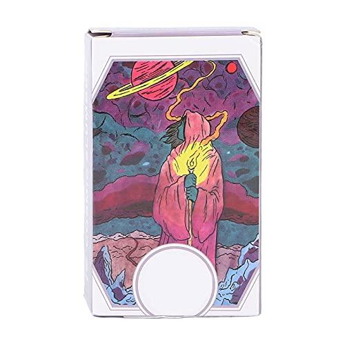Maquer Tarotkartenstapel, Kosmische Schlummer-Tarot-Decks, Moderne Hexen-Tarotkarten mit Exquisiten Illustrationen Okkulte Tarot-Wahrsagekarten für Anfänger, Erfahrene Leser und Alle Niveaus