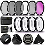 55MM Professional Lens Filter Accessory Kit (UV FLD CPL) ND Filters Set...