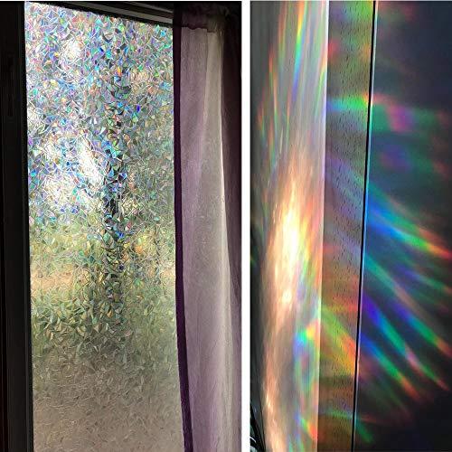 LMKJ Película de Vidrio de Ventana Decorativa Opaca de Color 3D Aislamiento térmico Pegatina de Vidrio autoadhesiva electrostática A45 60x200cm