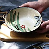 COOLSHOPY el Norte de Europa Creativa de cerámica Ensaladera Bol Bol Ramen Cubiertos Hogar Hogar