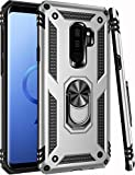 Galaxy S9 Plus Case,ZADORN 15ft Drop Tested,Military Grade Heavy Duty Protective Cover with Hard PC and Soft Silicone Kickstand Phone Case for Samsung Galaxy S9 Plus 6.2' Silver