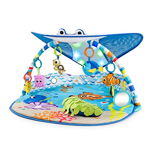 Bright Starts Disney Baby Finding Nemo Mr. Ray Ocean Lights & Music Gym, Ages Newborn +
