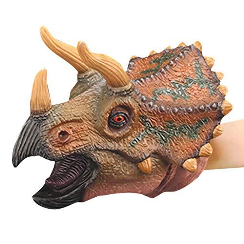 Ouneed - 1 stücke Dinosaurier Dino Puppe Handpuppe Jurassic World Park Kinder Spielen Spielzeug Handpuppe Handschuhe Dinosaurier Realistische Gummi Spielzeug Tier Figur Geshenke Kinder Spielzeug (B)