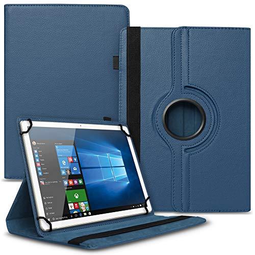 UC-Express Tablet Tasche 360° Drehbar Xoro PAD 7A2 Hülle Schutzhülle Universal Hülle Cover, Farben:Schwarz