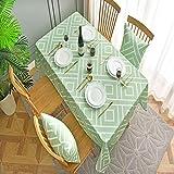 EMPERSTAR Mantel Estereoscópico Mesa de Comedor y Sala de Estar a Prueba de Agua. Green 100x130