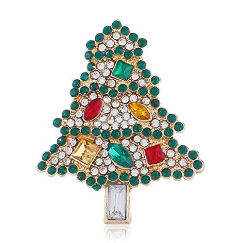 Árbol de Navidad creativo Broche de gama alta Moda Elegante Joyería de fiesta de boda para mujeres Vestido de camisa de mujer Otros trajes - Multicolor Br1570Gn-G
