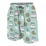vcbndfcjnd Milk and Cookies Boys Beach Shorts Quick Dry Beach Swim Trunks Kids Swimsuit Beach...