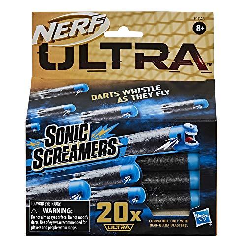 Nerf Ultra Sonic Screamers 20er Dart Nachfüllpack, die Darts fliegen pfeifend durch die Luft, nur mit Nerf Ultra Blastern kompatibel