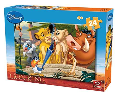 King KNG05247 Lion Jigsaw Puzzle-24 Piece Disney Puzzle, verschieden