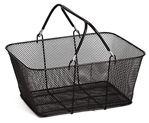Black Metal Shopping Basket