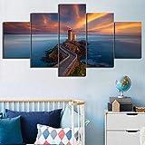 YHZY Hd-Drucke Bilder Home Decoration 5 Panel Frankreich