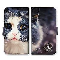 docomo らくらくスマートフォン me F-01L (V) 手帳型 スマホ ケース カバー スマホケース スマホカバー 子猫 アップ 写真 らくらくスマートフォンme 22190