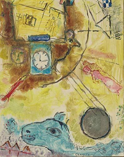 Abstrakte Figuren Pferd Menschen Uhr Landschaft Ölgemälde Leinwanddrucke gedruckt auf Leinwand Home Wand dekorative Bilder-40x60cm