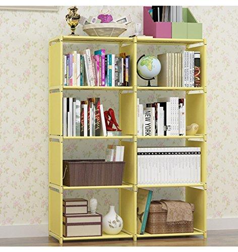Ripiani Ali Libreria Facile da compilare scaffale per Libri scolastici armadietti di Rinforzo Combinazione Rack Multifunzione (Colore : Giallo)