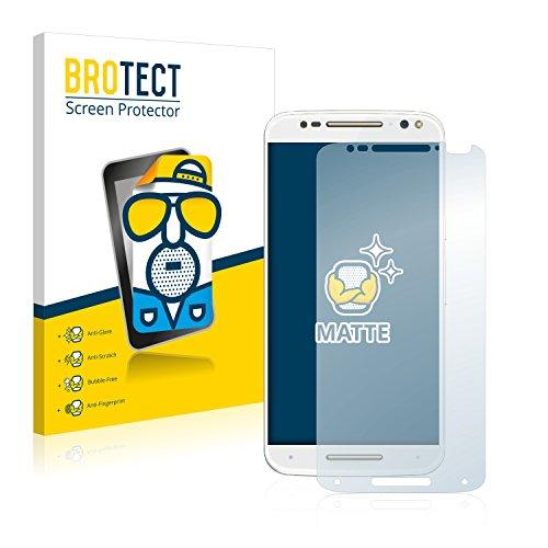 BROTECT 2X Entspiegelungs-Schutzfolie kompatibel mit Motorola Moto X Style Bildschirmschutz-Folie Matt, Anti-Reflex, Anti-Fingerprint