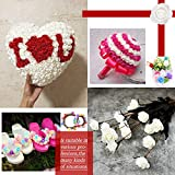 VINFUTUR 200 Stücke Schaumrosen Künstliche Rosenköpfe Mini Foamrosen Kunstrosen für DIY Rosen Bär Valentinstag Hochzeit Party Home Deko - 4