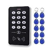 Incluye 10 llaves RFID de 125 KHz con Cubierta Impermeable LIBO Controlador RFID de Control de Acceso Impermeable Apto Para Sistema de Entrada de Una Sola Puerta Compatible con 1000 Usuarios