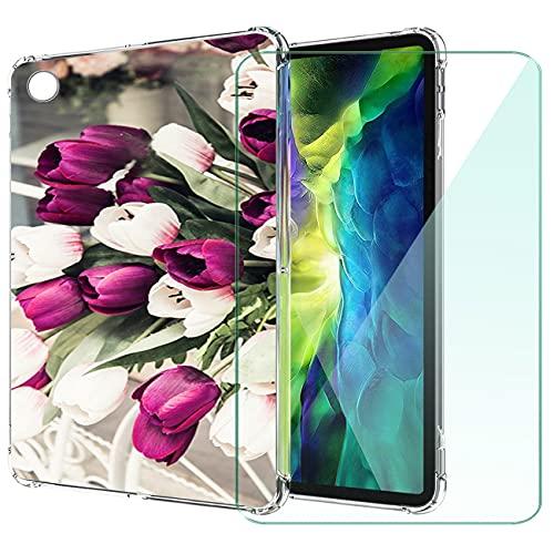 WANCJX Transparente Tablet Funda Compatible para Lenovo Tab M10 HD 2nd Gen (10.10 Pulgada) Carcasa + [1 Pieza] Cristal Templado Film,Antigolpes Caso Cover,HD Cristal Templado Membrana-JX3