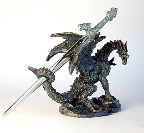 Stock4u Dragon Ornament with Sword Letter Opener, 10 cm