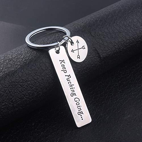 YCEOT Tags Schlüsselanhänger AnhängerSilber Metall Ermutigung Freund Armreifen Frauen Männer Accessoires