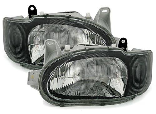 Preisvergleich Produktbild AD Tuning GmbH & Co. KG DEPO Scheinwerfer Set H4 Halogen Schwarz Links rechts für elektr. LWR